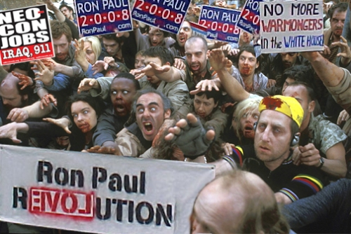 Ron Paul Mob Zombies