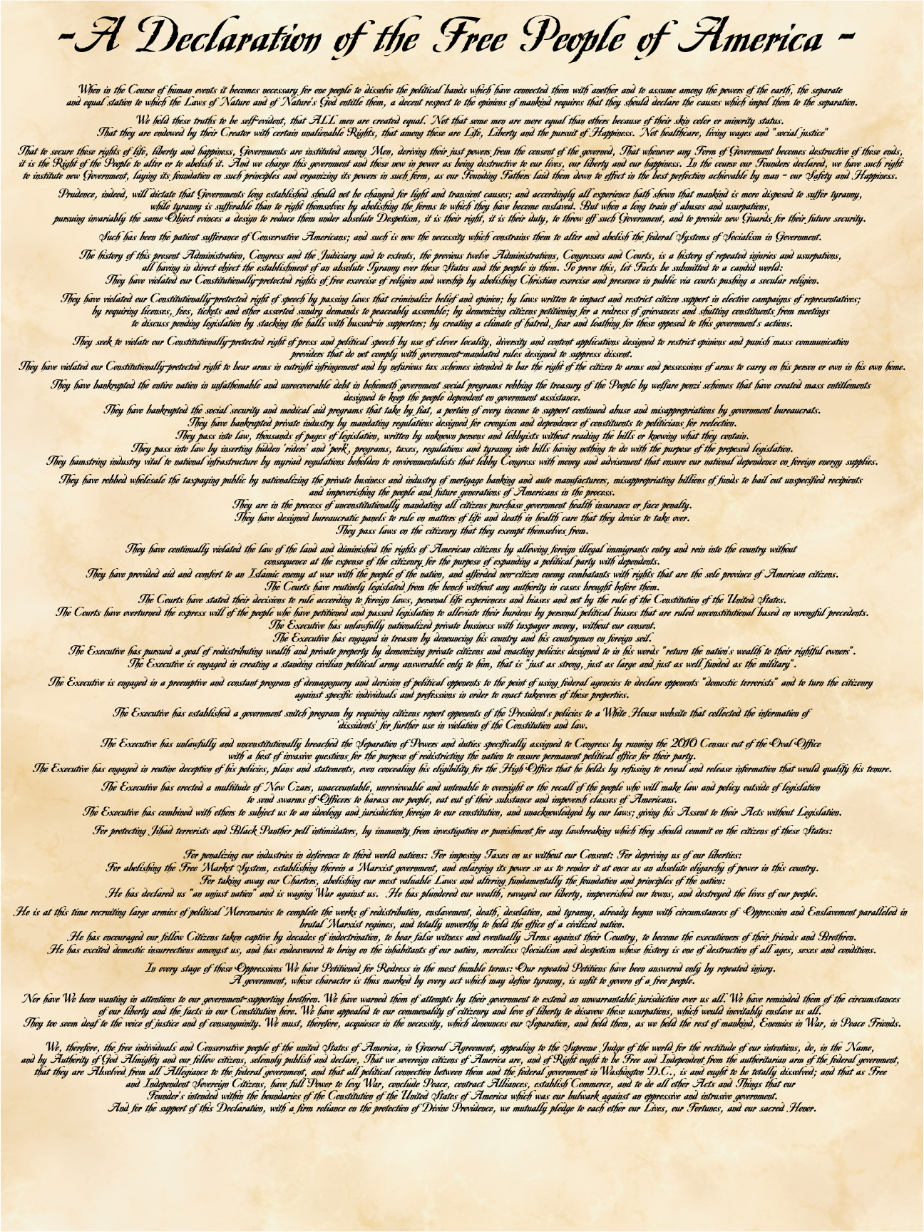 new declaration of independence 2009 new declaration pdf hi res