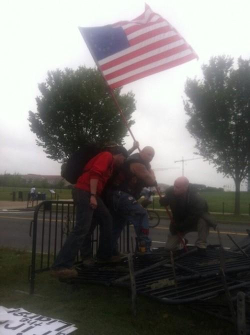 Iwo Jima Planting Barrycades