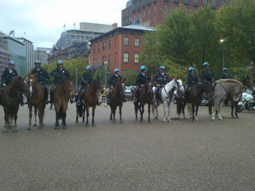 Mounted Police Near WH