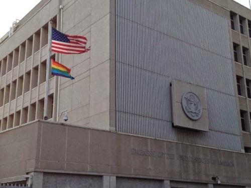 gay-flag embassy