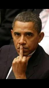 Obama flipsbird