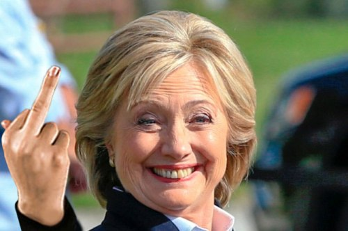 Hillary-finger